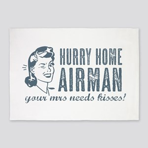 Hurry Home Airman 5'x7'Area Rug