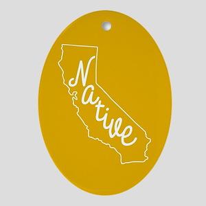 California Native Oval Ornament