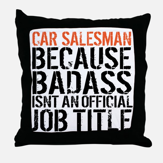Cool Sales manager Throw Pillow