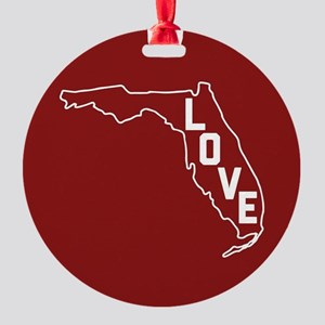 Florida Love Round Ornament