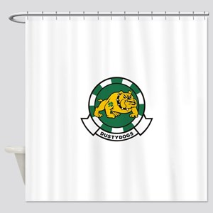 hs7_dustydogs_HELICOPTER ANTISUBMAR Shower Curtain