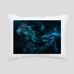 blue dragon Rectangular Canvas Pillow