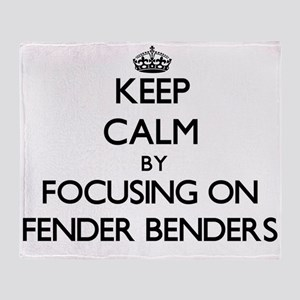 Keep Calm by focusing on Fender Bend Throw Blanket