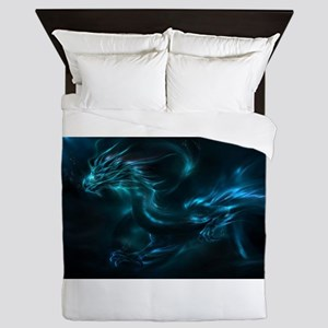blue dragon Queen Duvet