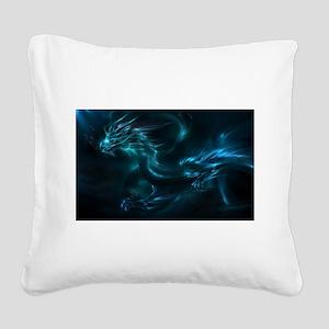 blue dragon Square Canvas Pillow