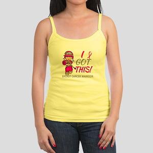 Combat Girl 2 Breast Cancer Hot Jr. Spaghetti Tank