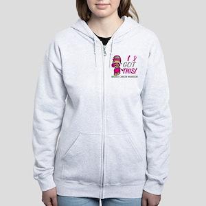 Combat Girl 2 Breast Cancer Hot Women's Zip Hoodie