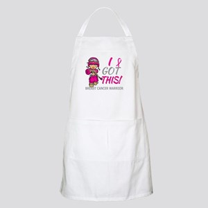 Combat Girl 2 Breast Cancer HotPink Apron