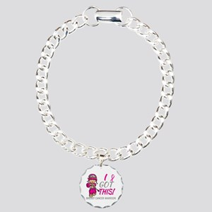 Combat Girl 2 Breast Can Charm Bracelet, One Charm