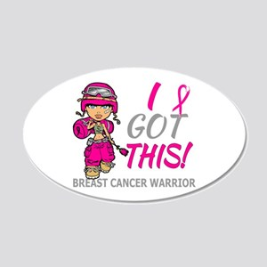 Combat Girl 2 Breast Cancer 20x12 Oval Wall Decal