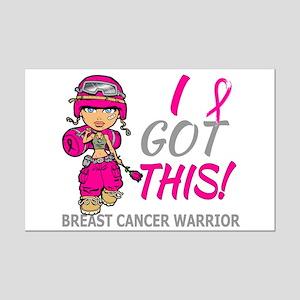 Combat Girl 2 Breast Cancer HotP Mini Poster Print