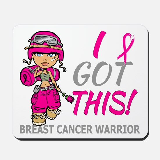 Combat Girl 2 Breast Cancer HotPink Mousepad