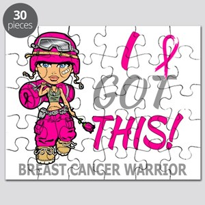 Combat Girl 2 Breast Cancer HotPink Puzzle