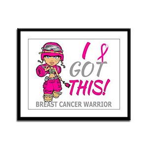 Combat Girl 2 Breast Cancer Hot Framed Panel Print