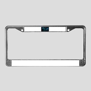 blue dragon License Plate Frame