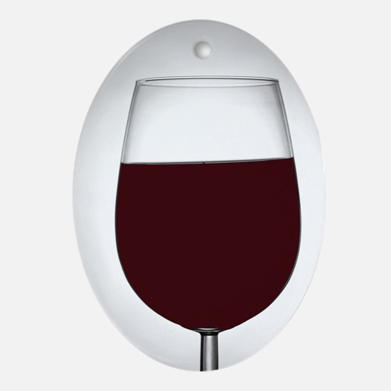 red wine Oval Ornament