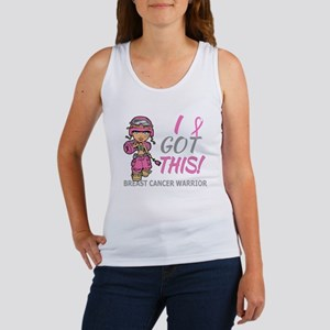 Combat Girl 2 Breast Cancer Pink Women's Tank Top