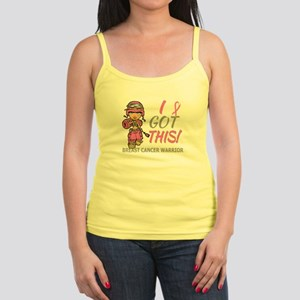 Combat Girl 2 Breast Cancer Pin Jr. Spaghetti Tank