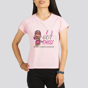 Combat Girl 2 Breast Cance Performance Dry T-Shirt