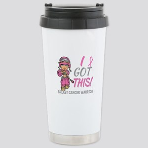 Combat Girl 2 Breast Ca Stainless Steel Travel Mug