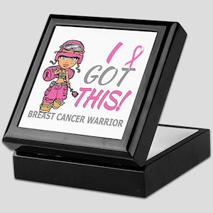 Combat Girl 2 Breast Cancer Pink Keepsake Box