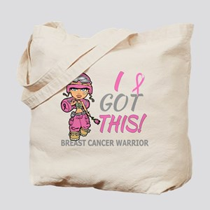 Combat Girl 2 Breast Cancer Pink Tote Bag