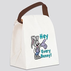 Hey Every Bunny Canvas Lunch Bag