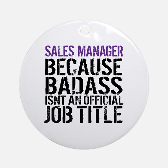 Cute Sales manager Round Ornament