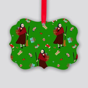 christmas Witch Befana Picture Ornament