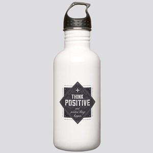 Think Positive Stainless Water Bottle 1.0L
