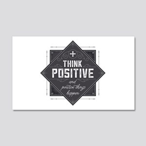 Think Positive 20x12 Wall Decal