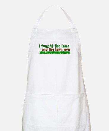 I fought the lawn BBQ Apron