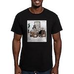 Bum Resume Men's Fitted T-Shirt (dark)