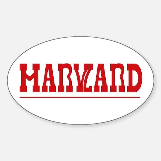 Maryland-Harvard Oval Decal