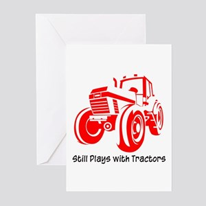 Red Tractor Greeting Cards Pk Of 10