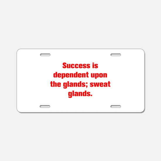Success is dependent upon the glands sweat glands