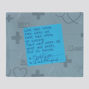 Greys Anatomy Sticky Note Throw Blanket