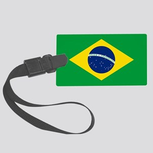 Brazil Flag Large Luggage Tag