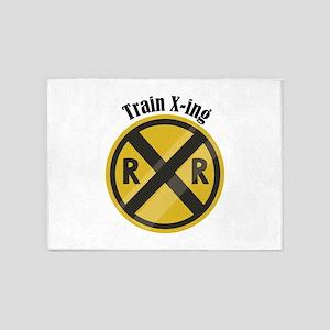 Train X-ing 5'x7'Area Rug