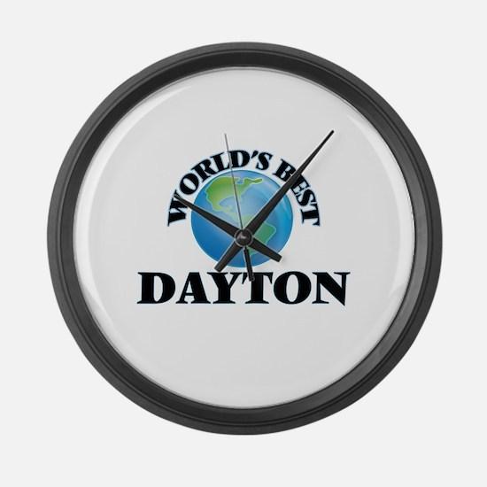 World's Best Dayton Large Wall Clock