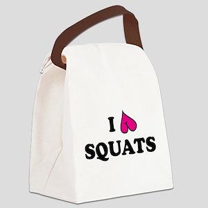 I love squats Canvas Lunch Bag