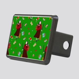 christmas Witch Befana Rectangular Hitch Cover