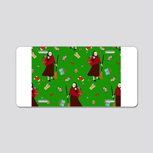 christmas Witch Befana Aluminum License Plate