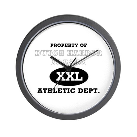 Dutch Harbor Athletic Dept. Wall Clock