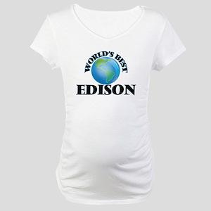 World's Best Edison Maternity T-Shirt