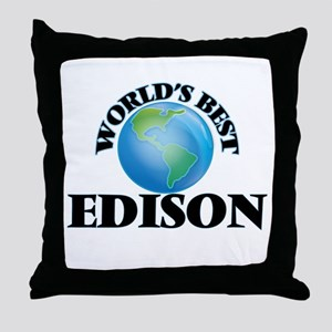 World's Best Edison Throw Pillow