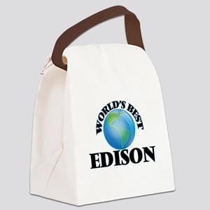 World's Best Edison Canvas Lunch Bag