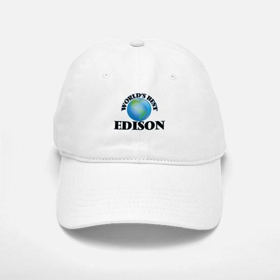 World's Best Edison Baseball Baseball Cap
