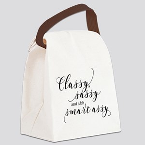 Classy Sassy and a bit Smart Assy Canvas Lunch Bag