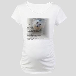 Maltese Poem Maternity T-Shirt